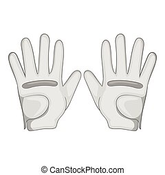 Golf gloves icon, cartoon style