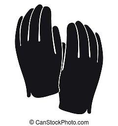 Golf gloves silhouette