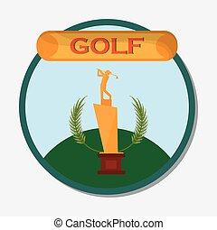 golf golden trophy award emblem