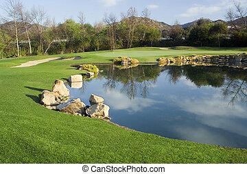 Golf Green and Lake