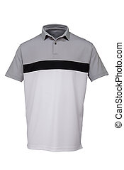 Golf grey, black and white tee shirt for man