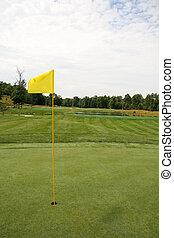 Golf Hole with Flag