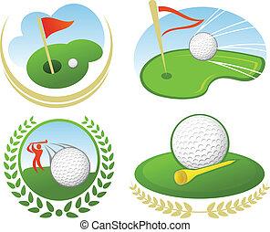 golf, icône