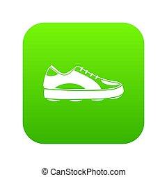 golf, icône, vert, chaussure, numérique