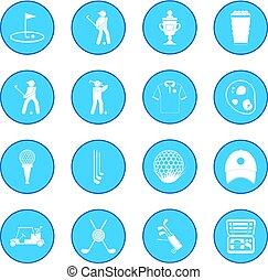 Golf icon blue