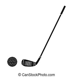 Golf icon in black style isolated on white background....