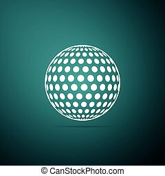 Golf icon isolated on green background. Flat design. Vector Illustration