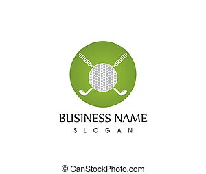 Golf icon logo template vector