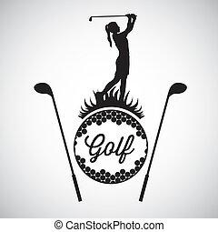 golf, iconen