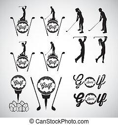 golf, iconos