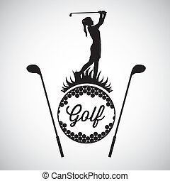 Golf Icons - Illustration of golf icons, illustrations of...