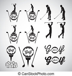 Golf Icons - Illustration of golf icons, illustrations of ...