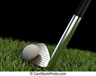 golf, ijzer, schommel