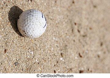 golf in bunker