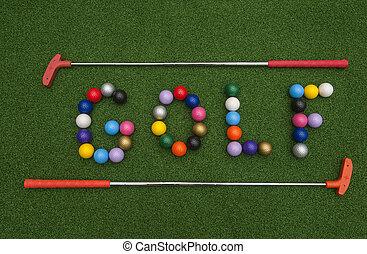 GOLF in Mini Golf Balls