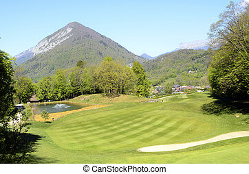 Golf in Talloires, Annecy lake, France