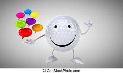 golf, informatique, -, animation