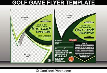 golf, jeu, aviateur, et, magazine, couverture