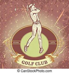 golf jouant, femme