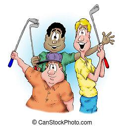 golf, kerels