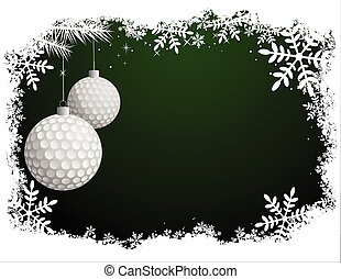 golf, kerstmis, achtergrond