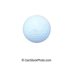 golf- kugel, weiß, hintergrund