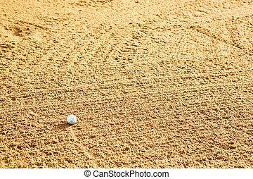golf labda, alatt, bunker