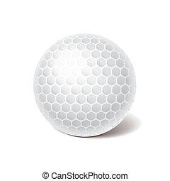 golf labda, vektor, ábra