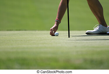 Golf lady at putting