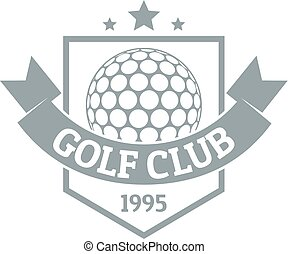 Golf logo, simple gray style
