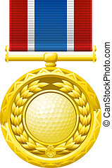 golf, medaille