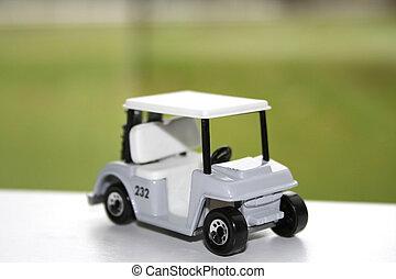 golf miniature, charrette