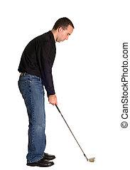 golf, okrągły