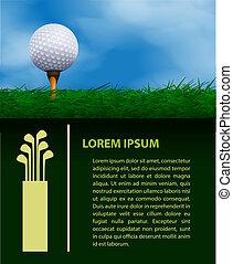 golf, ontwerp, mal