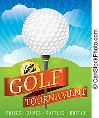 golf, ontwerp, toernooi