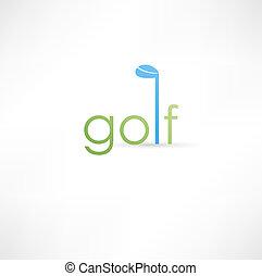 golf, pictogram