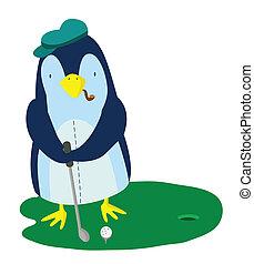 golf, pinguino