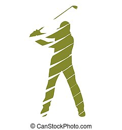 Golf player, abstract vector golfer