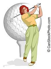 golf player female