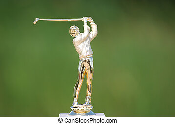 golf player gold statue