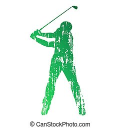 Golf player. Grunge