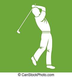 Golf player icon green