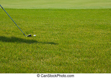 Golf player on a green