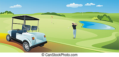 Golf Player On the Golf Field