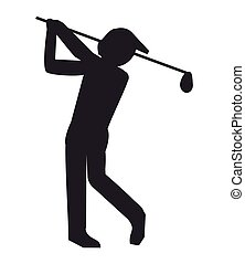 golf player silhouette icon