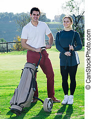 Golf players at golf course