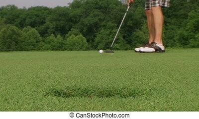 Golf Putt Hits Camera