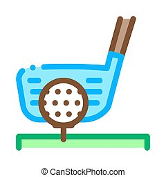 Golf Putter Ball Icon Vector Outline Illustration
