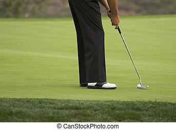 Golf Putting on the Green