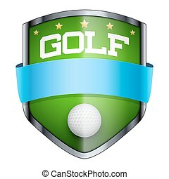 Golf Shield badge.